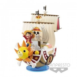 ONE PIECE Monkey D. Luffy - Thousand Sunny -  World Collectable Figure MEGA Specia