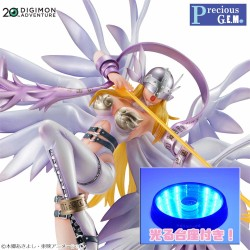 ANGEWOMON VER. HOLLY ARROW CON BASE LED FIGURA DIGIMON ADVENTURE G.E.M. SERIES