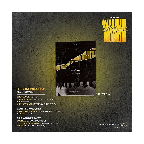 STRAY KIDS - Clé 2 : YELLOW WOOD [Limited Edition]