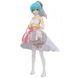 Vocaloid Miku Hatsune White Dress Super Premium Figure