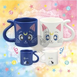 SAILOR MOON  LUNA & ARTEMIS PAIR MUG CUP
