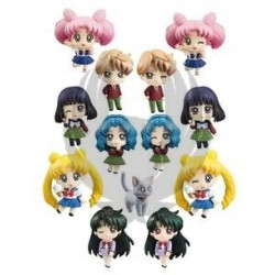 PRETTY SOLDIER SAILOR MOON MORE SCHOOL LIFE! DISPLAY 6 FIG 6 CM PETIT CHARA
